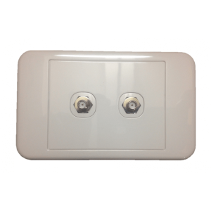 Dual SMA Female_SMA Female Wall Plate
